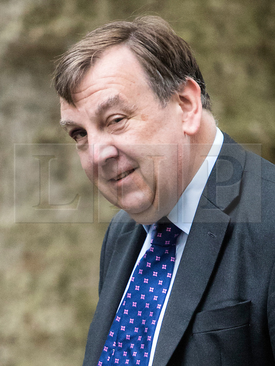 © London News Pictures. 14/06/2016. London, UK. Culture, Media and Sport Secretary JOHN WHITTINGDALE arrives for a cabinet meeting at 10 downing street sporting a black eye. Photo credit: Paul Davey/LNP