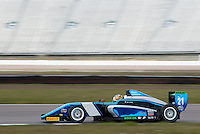 #21 Jan JONCK (DEN)  SWR  Tatuus-Cosworth  BRDC British F3 Championship at Rockingham, Corby, Northamptonshire, United Kingdom. April 30 2016. World Copyright Peter Taylor/PSP.