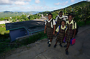 School girls on the way home.