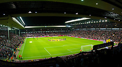 LIVERPOOL, ENGLAND - Wednesday, December 15, 2010: The view from the Spion Kop before the UEFA Europa League Group K match between Liverpool and FC Utrecht at Anfield. (Photo by: David Rawcliffe/Propaganda)