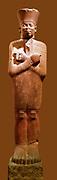 Sandstone statue of Mentuhotep II wearing Jubilee Garment. 2nd Dynasty reign of Mentuhotep II 2051-2000 BC from Deir el Bahri, Thebes Egypt