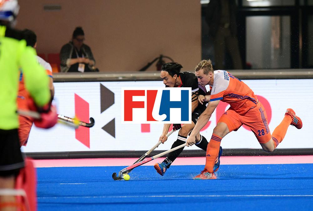 Odisha Men's Hockey World League Final Bhubaneswar 2017<br /> Match id:16<br /> Germany v Netherlands<br /> Foto: Dan Nguyen (Ger) in dual with Floris Wortelboer (Ned) <br /> COPYRIGHT WORLDSPORTPICS FRANK UIJLENBROEK