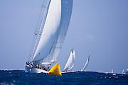 Windrose sailing in the 2010 Antigua Classic Yacht Regatta, Windward Race, day 4.