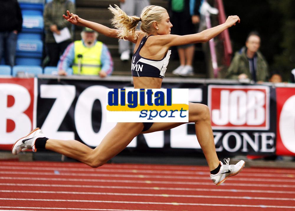 Friidrett, , 20. august  2010 , NM senior , hovedmesterskapet <br /> <br /> Helene Hoven , Sandvin i tresteg
