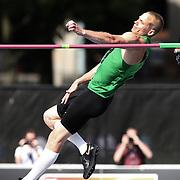 Jesse Williams, USA, in action in the Men's High Jump  during the Diamond League Adidas Grand Prix at Icahn Stadium, Randall's Island, Manhattan, New York, USA. 14th June 2014. Photo Tim Clayton