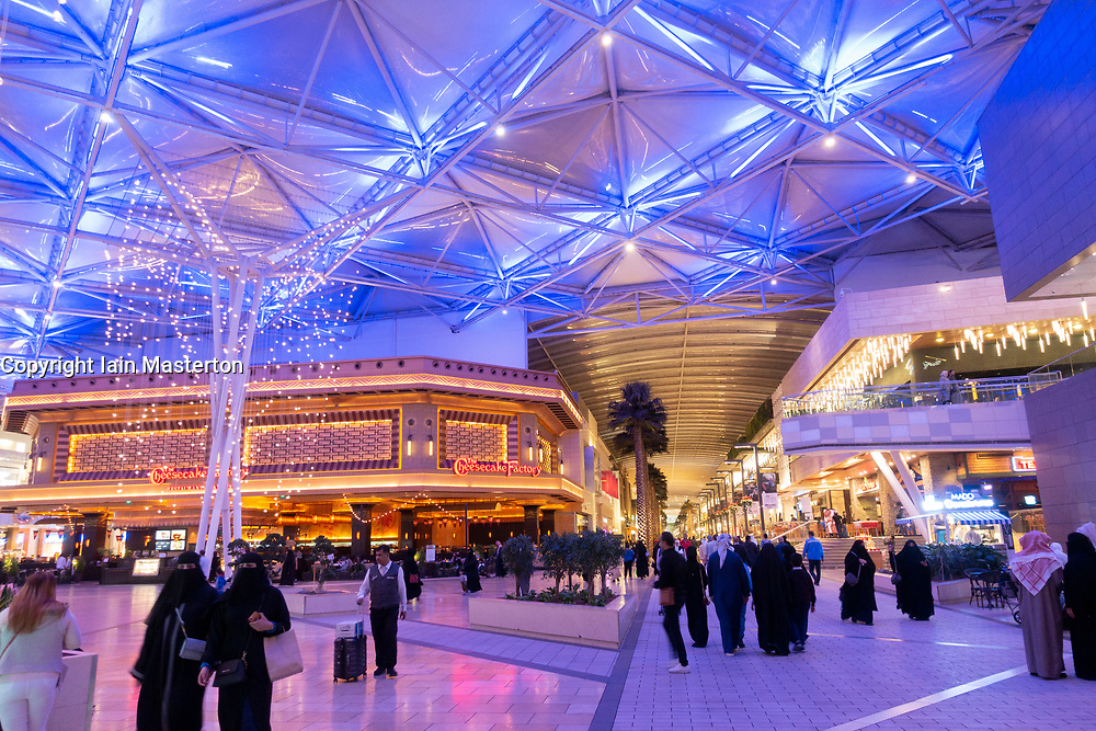 Interior of The Avenues shopping mall in Kuwait City, Kuwait