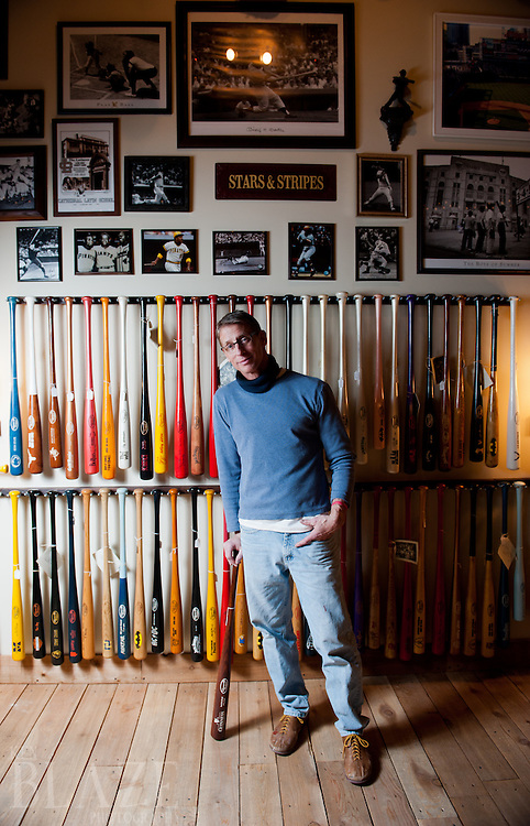 John Smatana of Johnnyville Slugger on West 25th Street in Cleveland, OH.<br /> <br /> Photographed by Ken Blaze on February 15, 2012