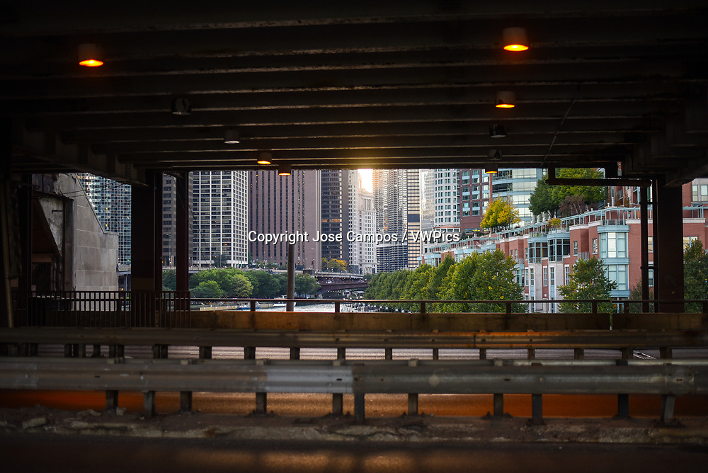 Sunset view in Chicago, Illinois