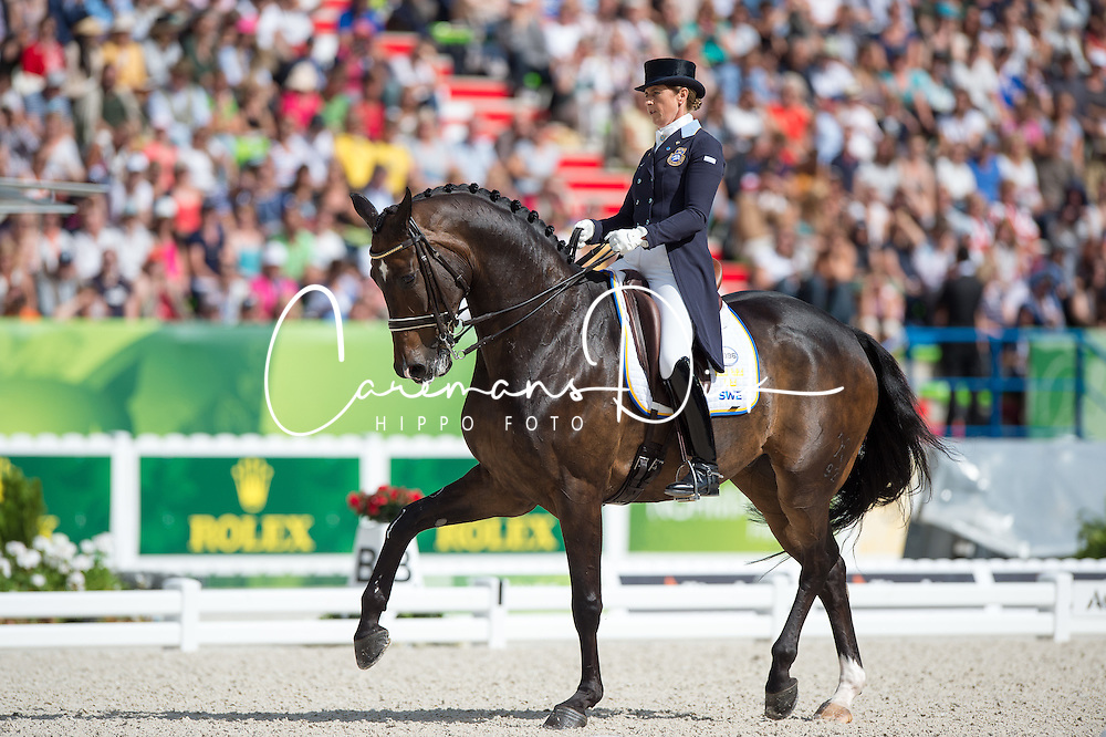 Tinne Vilhelmson Silfven, (SWE), Don Auriello - Freestyle Grand Prix Dressage - Alltech FEI World Equestrian Games&trade; 2014 - Normandy, France.<br /> &copy; Hippo Foto Team - Jon Stroud<br /> 25/06/14