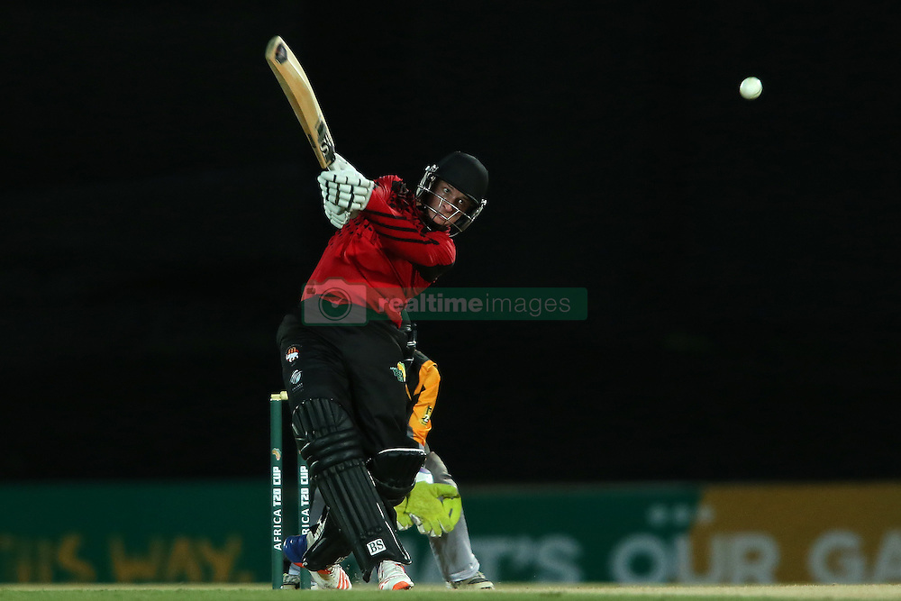 Edward Moore of Eastern Province skies a delivery during the Africa T20 cup pool D match between Boland and Eastern Province held at the Boland Park cricket ground in Paarl on the 24th September 2016.<br /> <br /> Photo by: Shaun Roy/ RealTime Images