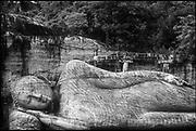 Gal Vihara, (Stone Temple), Polonnaruwa.<br /> The reclining figure of the Buddha.<br /> Copyright: Dominic Sansoni