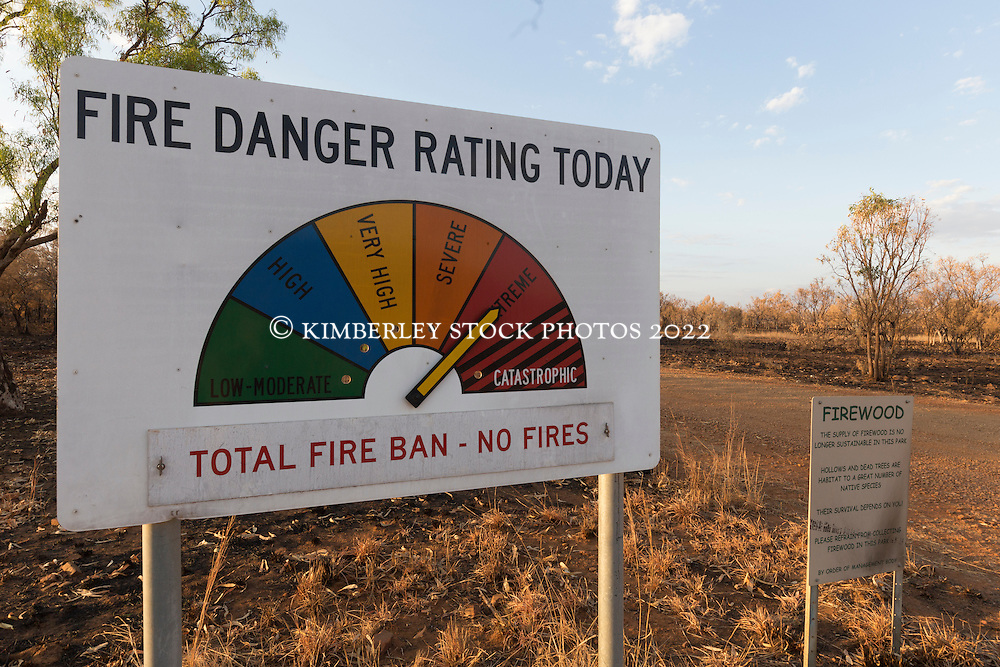 Fire Danger Rating sign on the Gibb River Road