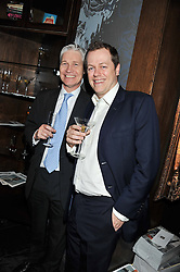 Left to right, RICHARD KAY and TOM PARKER BOWLES at a party to celebrate the launch of Pomp magazine - a magazine representing London Luxury without the Ceremony focusing on the luxury, fashion and culture of the Capital, hosted by Tom Parker Bowles and the Directors of Pomp Magazine held at The Cuckoo Club, Swallow Street, London on 17th November 2011.
