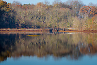 Fall scenery in Tuckahoe State Park, Ridgely, Maryland.