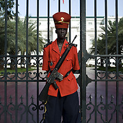 DAKAR (Senegal). 2007. Guards at the Presidential Palace in Dakar
