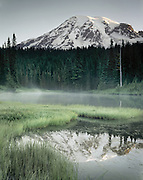 Mount Rainier 14,411¬+ft (4,392¬+m) from Reflection Lake, Mount Rainier National Park