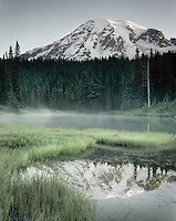 Mount Rainier 14,411¬+ft (4,392¬+m) from Reflection Lake, Mount Rainier National Park