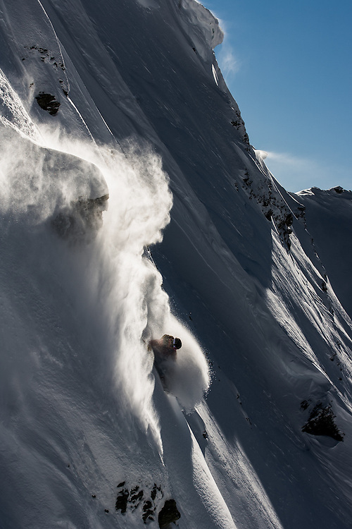 Stian Hagen, line finding, Super St Bernard, Switzerland.