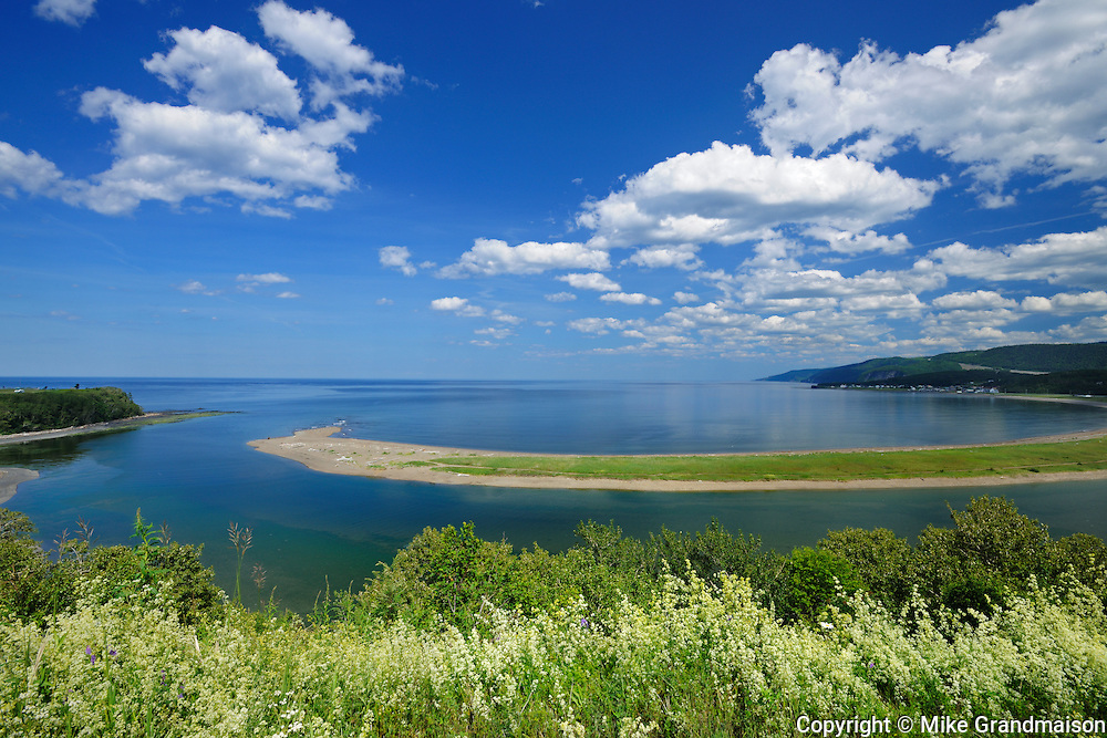 Barachois (a coastal lagoon separated from the ocean by sand bar)<br /> Riviere-Madeleine<br /> Quebec<br /> Canada