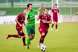 GasperUdovic of NK Triglav Kranj during football match between NK Triglav Kranj and NK Krskoi in Round #29 of Prva Liga Telekom Slovenije 2017/18, on May 2, 2018 in Sports park Kranj, Kranj, Slovenia. Photo by Ziga Zupan / Sportida