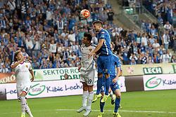29.07.2015, INEA Stadion, Poznan, POL, UEFA CL, Lech Poznan vs FC Basel, Qualifikation, 3. Runde, Hinspiel, im Bild (L) BIRKIR BJARNASON (S) BEHRANG SAFARI (P) DENIS THOMALLA STRZAL BRAMKA GOL // during the UEFA Champions League Qualifier, third round, first Leg match between Lech Posen and FC Basel at the INEA Stadion in Poznan, Poland on 2015/07/29. EXPA Pictures © 2015, PhotoCredit: EXPA/ Newspix/ Wojciech Klepka<br /> <br /> *****ATTENTION - for AUT, SLO, CRO, SRB, BIH, MAZ, TUR, SUI, SWE only*****