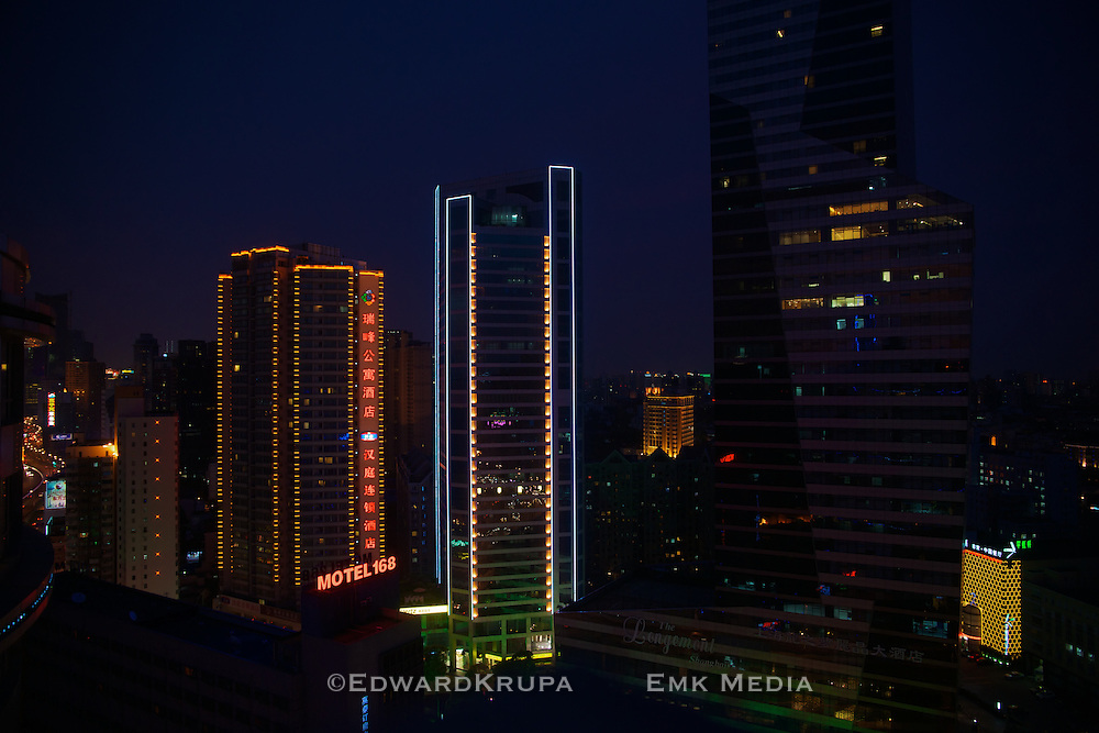 Night view in Shanghai.