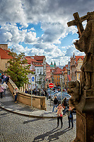 The castle quarter district of Prague in the Czech Republic