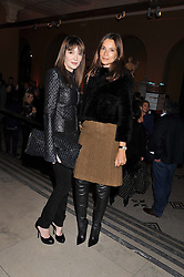 Left to right, ANNABELLE NEILSON and ASTRID MUNOZ at a private view of the V&A's exhibition Golden Spider Silk held at the Victoria & Albert museum, London on 24t January 2012.