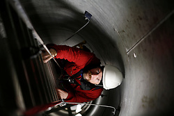 UK ENGLAND GREENFIELD 21MAR12 - Ladder ascent inside the wind turbine at the Capital Safety training facility in Greenfield, Greater Manchester.<br /> <br /> jre/Photo by Jiri Rezac<br /> <br /> © Jiri Rezac 2012