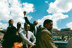May 24, 1994 - South Africa - NELSON MANDELA campaigning for President. (Credit Image: © Aftonbladet/IBL/ZUMAPRESS.com)