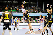DESCRIZIONE : HandbaLL Cup Finale EHF Homme<br /> GIOCATORE : Jorge MAQUEDA PENO<br /> SQUADRA : Nantes <br /> EVENTO : Coupe EHF Finale<br /> GARA : NANTES Rhein Neckar<br /> DATA : 19 05 2013<br /> CATEGORIA : Handball Homme<br /> SPORT : Handball<br /> AUTORE : JF Molliere <br /> Galleria : France Hand 2012-2013 Action<br /> Fotonotizia : HandbaLL Cup Finale EHF Homme<br /> Predefinita :