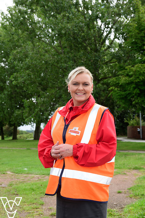 Postwoman Emma Smith, who usually delivers out of Garforth Delivery Office, started out with the Royal Mail as a Christmas casual worker before becoming a manager at Yorkshire Distribution Centre.  Emma, pictured on delivery in South Elmsall, is now a postwoman at Garforth.<br /> <br /> Picture: Chris Vaughan Photography<br /> Date: August 7, 2017