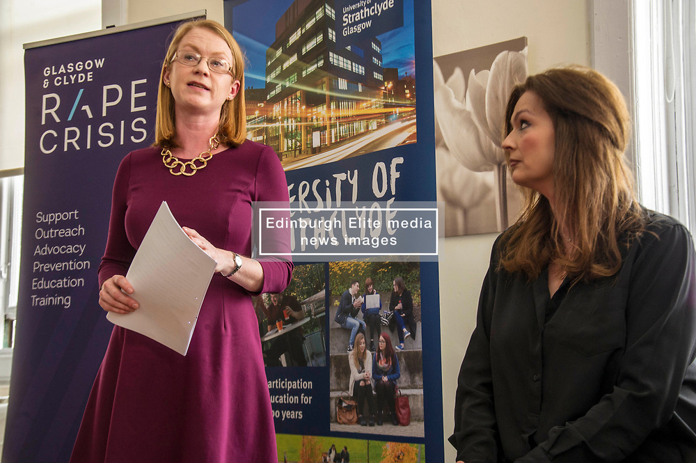 Pictured: Shirley-Anne Sommerville and Fiona Drouet had lots to talk about during an emotional meeting<br /> New practical guidance for universities to tackle gender-based violence on campus was launched today (Wednesday 25 April) by Further and Higher Education Minister, Shirley-Anne Somerville,  .<br /> <br /> Guidance and training for staff, better data collection and well-publicised support information for students are some of the recommendations set out in the toolkit, which has been produced by the University of Strathclyde and funded by the Scottish Government.<br /> <br /> The toolkit, which will be adapted for colleges, takes forward the principles set out in the #emilytest campaign set up by Fiona Drouet, in memory of her daughter Emily.<br /> <br /> The Minister visited Glasgow Rape Crisis Centre and heard about the work they do to support people affected by gender-based violence and their support in developing the toolkit. Ms Somerville met Fiona Drouet and other organisations involved in the development of the toolkit to discuss the #emilytest campaign and on-going work to support students affected by gender-based violence.<br /> <br /> Ger Harley | EEm 25 April 2018