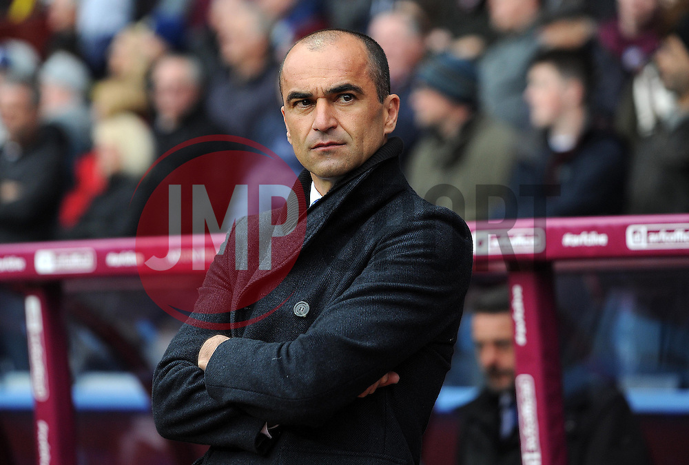 Everton Manager, Roberto Martinez - Photo mandatory by-line: Harry Trump/JMP - Mobile: 07966 386802 - 29/04/15 - SPORT - FOOTBALL - Birmingham - Villa Park - Aston Villa v Everton - Barclays Premier League