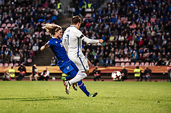 September 2, 2017 - Tampere, Finland - Iceland's Birkir Bjarnason and Finland's Robin Lod during the FIFA World Cup 2018 Group I football qualification match between Finland and Iceland in Tampere, Finland, on September 2, 2017. (Credit Image: © Antti Yrjonen/NurPhoto via ZUMA Press)
