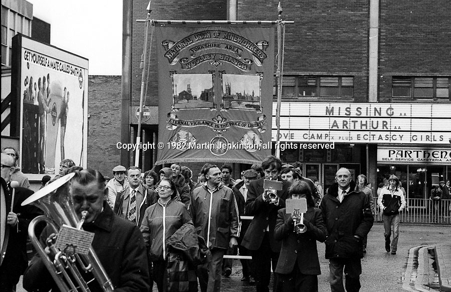 Woolley banner, 1982 Yorkshire Miner's Gala. Doncaster