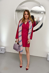 Rosie Fortescue at the Charlotte Simone LFW Autumn Winter 2017 showcase, The Vinyl Factory, 51 Poland Street, London England. 17 February 2017.