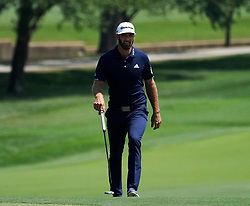August 10, 2018 - St. Louis, Missouri, United States - Dustin Johnson approaches the 9th green during the second round of the 100th PGA Championship at Bellerive Country Club. (Credit Image: © Debby Wong via ZUMA Wire)