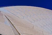 Roof tiles, Sydney Opera House, Bennelong Point, Sydney, New South Wales, Australia