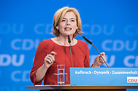 26 FEB 2018, BERLIN/GERMANY:<br /> Julia Kloeckner, CDU Landesvorsitzende Rheinland-Pfalz, CDU Bundesparteitag, Station Berlin<br /> IMAGE: 20180226-01-134<br /> KEYWORDS: Party Congress, Parteitag, Julia Klöckner