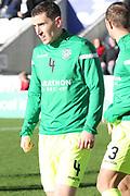 Hibernian defender Paul Hanlon (4) in warm up during the Ladbrokes Scottish Premiership match between St Mirren and Hibernian at the Paisley 2021 Stadium, St Mirren, Scotland on 27 January 2019.