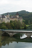 Cleron village in the Doubs, Cleron castle in the valley de la Loue