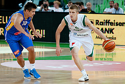 Luka Rupnik of Slovenia vs Sasa Vasiljevic of BiH at friendly match between Slovenia and Bosnia and Hercegovina for Adecco Cup 2011 as part of exhibition games before European Championship Lithuania on August 9, 2011, in SRC Stozice, Ljubljana, Slovenia. (Photo by Matic Klansek Velej / Sportida)