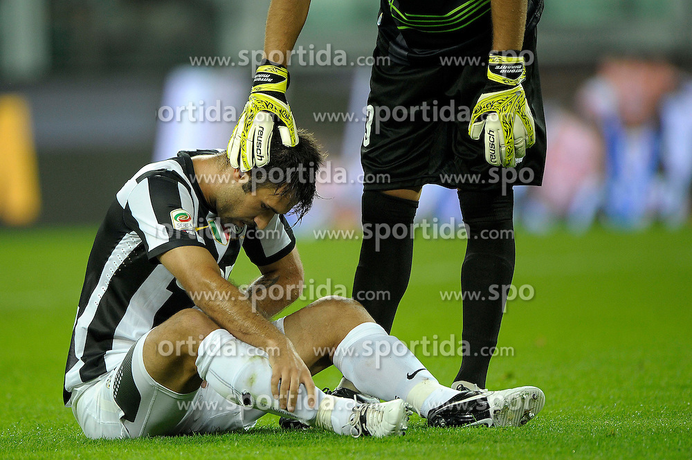 25.08.2012, Juventus Stadion, Turin, ITA, Serie A, Juventus Turin vs FC Parma, 1. Runde, im Bild Mirko Vucinic // during the Italian Serie A 1st round match between Juventus FC and Parma FC at the Juventus Stadium, Turin, Italy on 2012/08/25. EXPA Pictures © 2012, PhotoCredit: EXPA/ Insidefoto/ Federico Tardito..***** ATTENTION - for AUT, SLO, CRO, SRB, SUI and SWE only *****