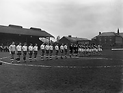 25/02/1961<br /> 02/25/1961<br /> 25 February 1961<br /> Soccer, Amateur International: Ireland v England at Dalymount Park, Dublin. The combined teams.