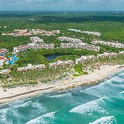 Aerial view of the Valentin Imperial Maya. Riviera Maya. Mexico