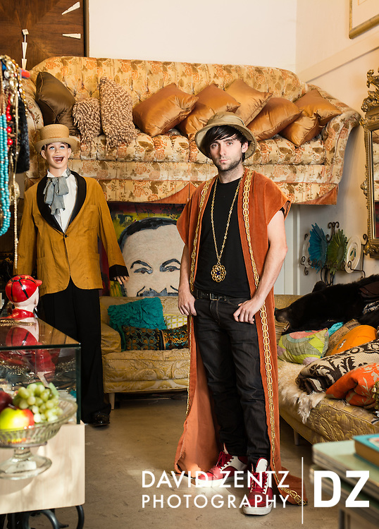 David Bailey at his vintage boutique, Gumbo Kinney, in Venice, Calif.