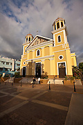 Cathedral of Nuestra Senora de la Candelaria in Plaza Colon, Mayaguez Puerto Rico