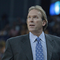 04 October 2010: Minnesota Timberwolves head coach Kurt Rambis is seen during the Minnesota Timberwolves 111-92 victory over the Los Angeles Lakers, during 2010 NBA Europe Live, at the O2 Arena in London, England.