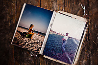 Old photographs of Ning Nong, a transgendered woman from Phrae, Thailand. Ning Nong died of AIDS over a decade ago, and her friends keep this small album to remember her.